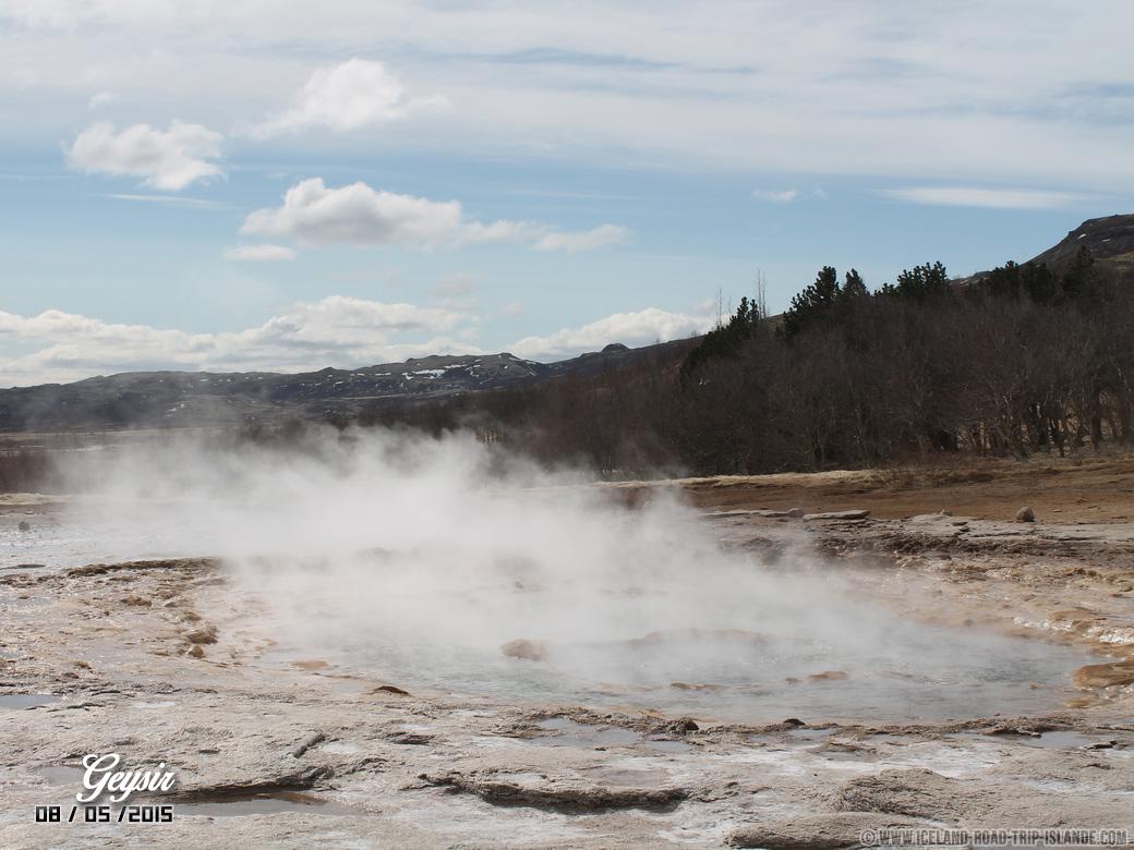 Le geyser au calme de Geysir