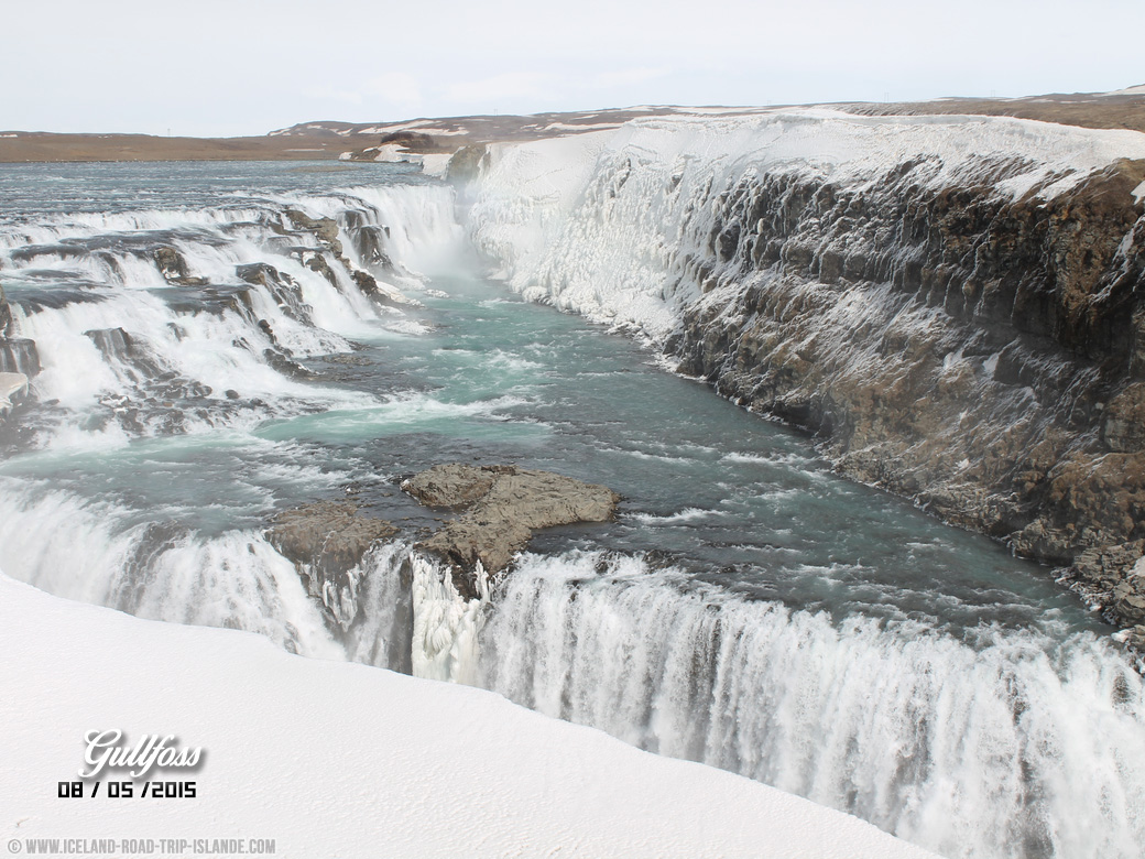 Les chutes d'eau de Gullfoss