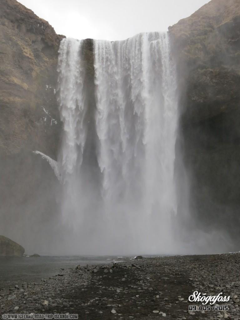 Chute d'eau de Skogafoss
