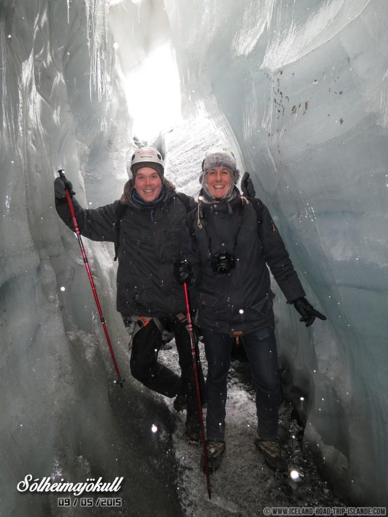 Petite photo sympa au sein de la caverne de glace