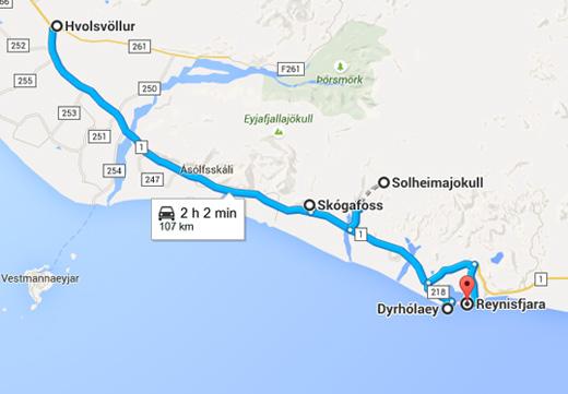 Road Trip en Islande de Hvolsvollur à Reynisfjara