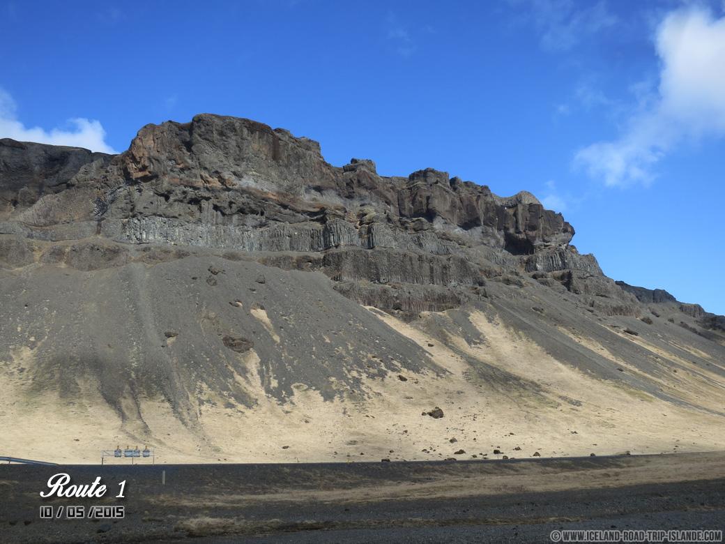 Les falaises qui jonchent la Route 1