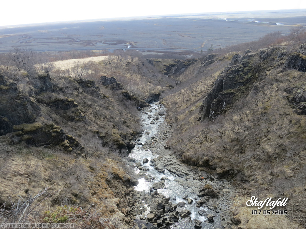 La vallée du parc de Skaftafell