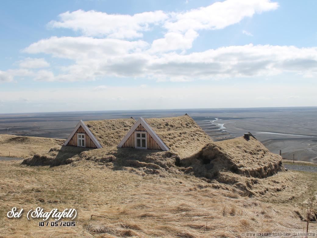 Les cottages de Sel dans le Parc de Skaftafell