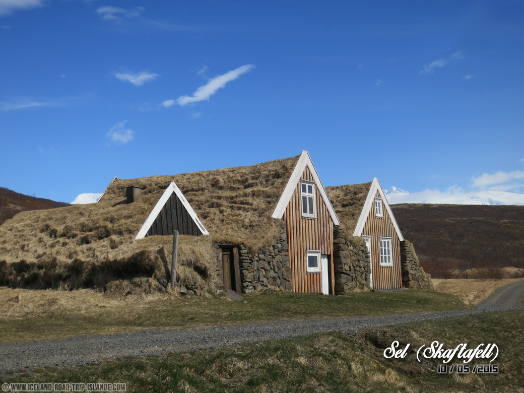 Les cottages de Sel dans le Parc national de Skaftafell