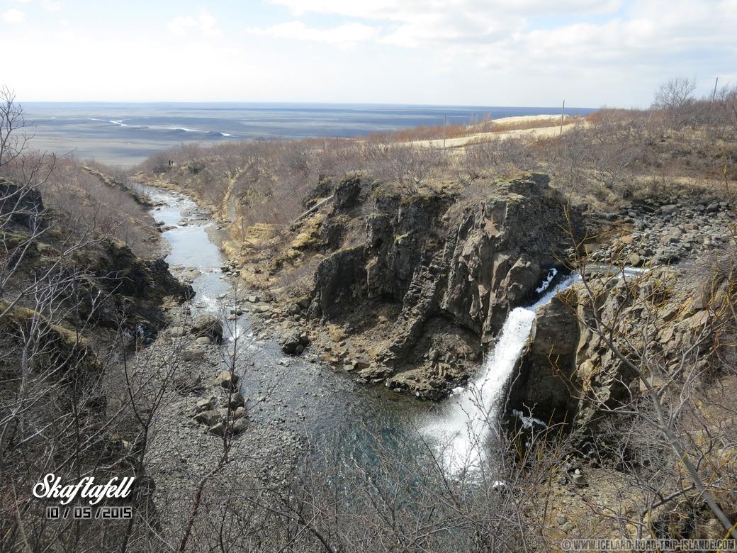 Une petite cascade dans le Parc national de Skaftafell
