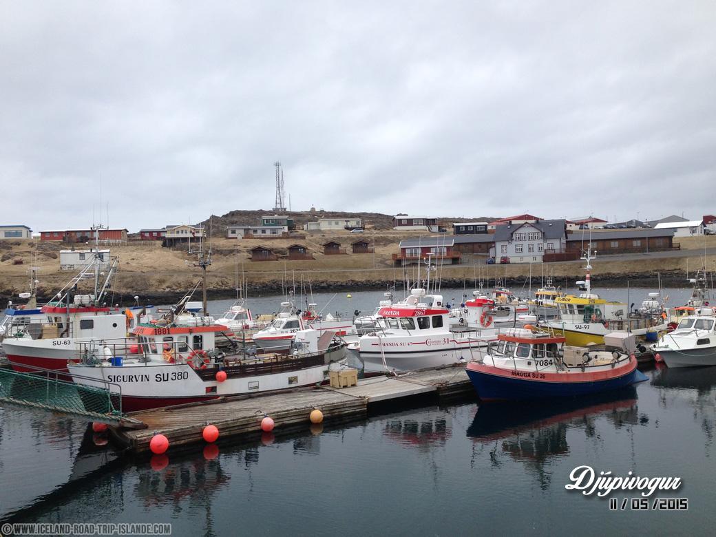 Le port de pêche de Djúpivogur