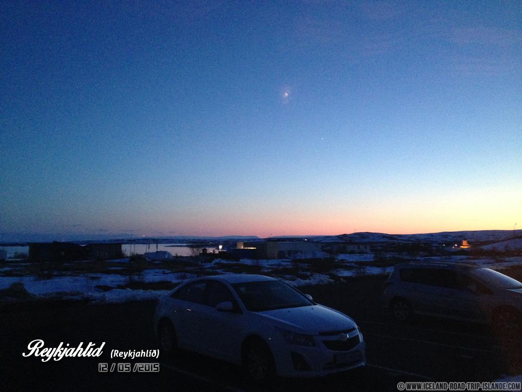 Le soleil ne se couche jamais vraiment en été en Islande