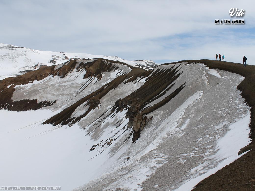 Les rebords du cratère de Víti