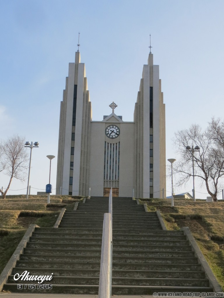 L'église moderne d'Akureyri
