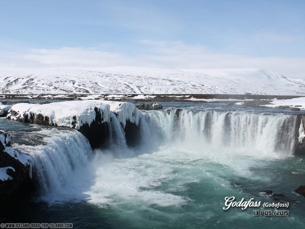 Les chutes d'eau de Godafoss