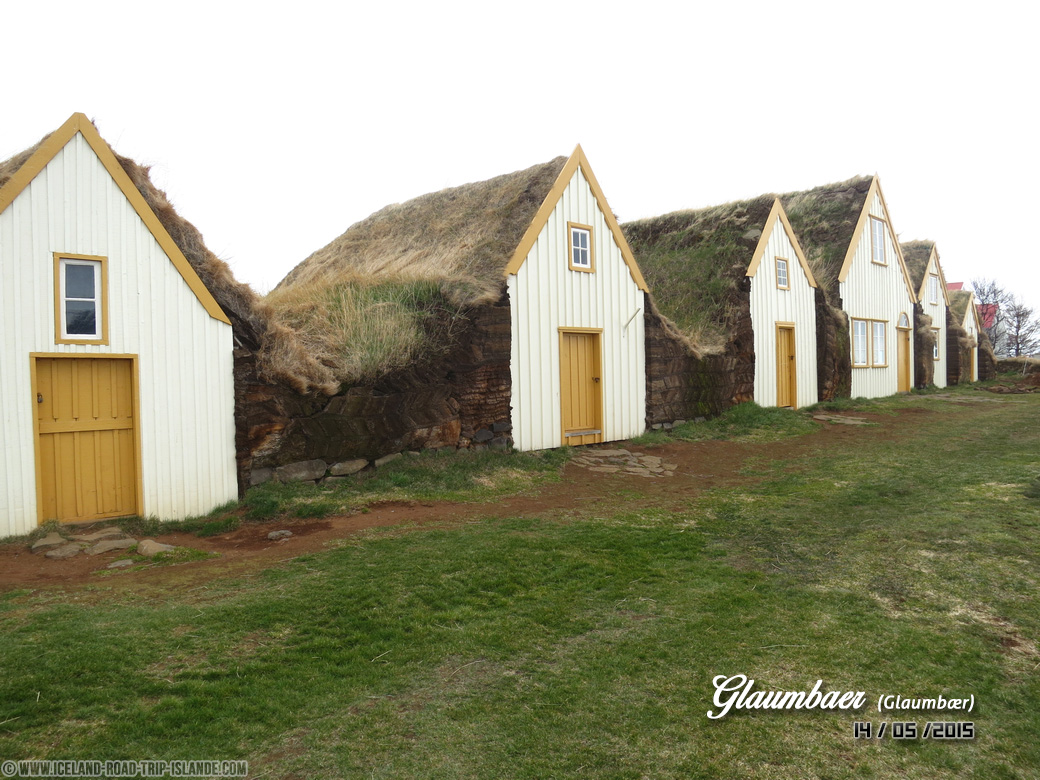 Les maisons en terre de Glaumbær