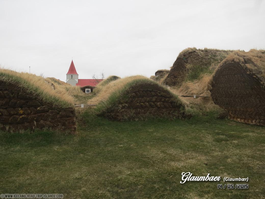 Voici l'arrière des maisons de terre de Glaumbær