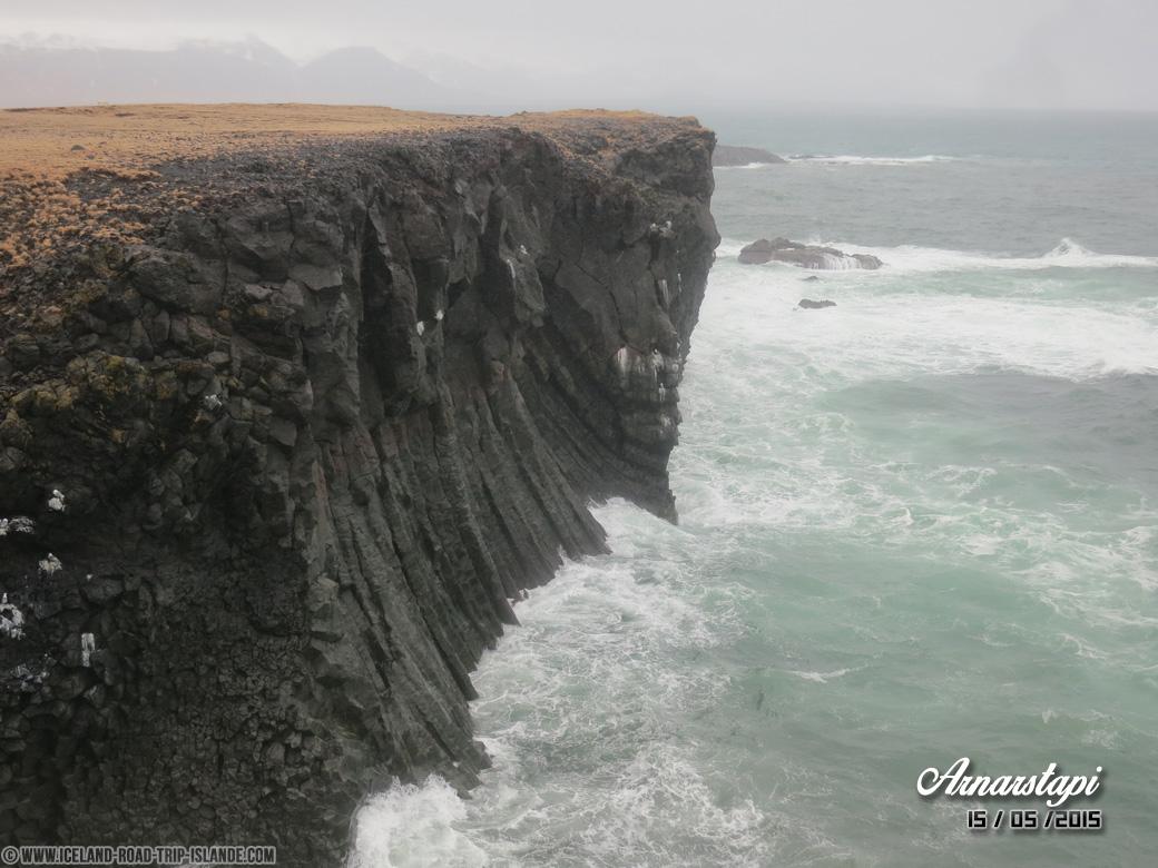 Les falaises d'orgues basaltiques d'Arnarstapi