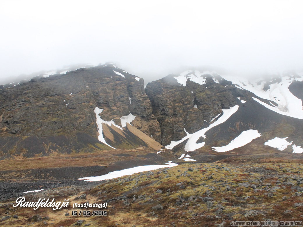 La faille de Rauðfeldsgjá