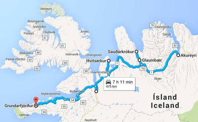 Road Trip en Islande de Akureyri à la péninsule Snæfellsnes