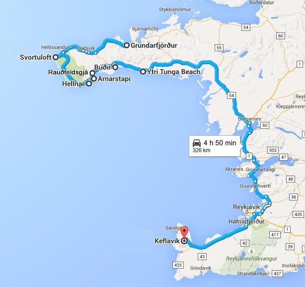 Road Trip en Islande de la péninsule Snæfellsnes à Keflavík